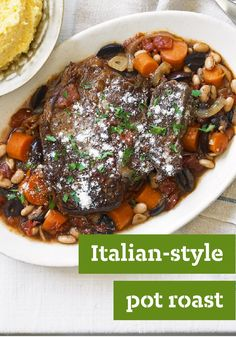 Italian-Style Pot Roast — Sprinkled with Parmesan cheese and served ...