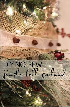 DIY No Sew Jingle Bell Garland - The Wood Grain Cottage