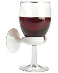 Wine glass holder for the bathtub.