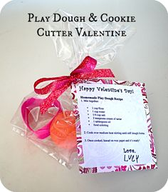 Play Dough & Cookie Cutter Valentine Idea ~ Homemade Play Dough Recipe