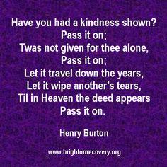 Pass it on - by Henry Burton