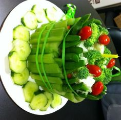 Veggie cake--a twist on the typical veggie platter