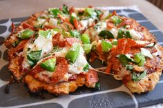 Step by Step Coconut Flour Pizza Crust Recipe  #EatLiveGrowPaleo  http://www.eatlivegrowpaleo.com/2012/06/paleo-pizza-update.html almond, olive oils, coconuts, egg cups, pizzas, paleo, gluten free, coconut flour, crusts