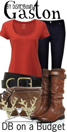 Gaston attire.  Check out Disneybound for character inspired clothing options!
