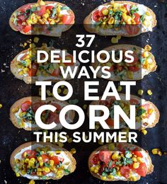 37 Delicious Ways To Eat Corn This Summer (with recipes). Includes: corn ice cream shortcakes with blueberry compote; roasted corn guacamole; fresh corn ravioli with herb cream sauce; maple corn dessert fritters; smoky cheddar cornbread poppers; grilled corn with herbed goat cheese butter, and MORE! Delicious, and vegetarian-friendly (some vegan-friendly too!)