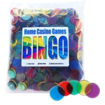 500-Bingo Chips Plastic Non-magnetic Chips -Assorted Colors