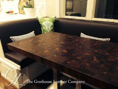 Custom Walnut Butcher Block Dining Table in San Francisco CA