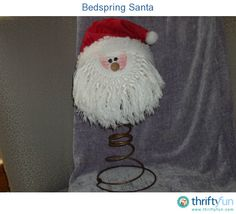 This guide is about making a bed spring Santa. Finding uses for old bed springs can be fun.
