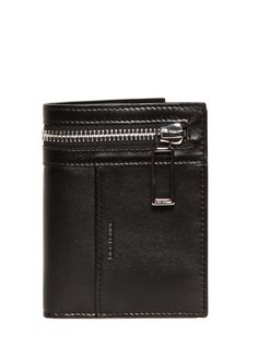 DIOR HOMME  SOFT LEATHER ZIP WALLET