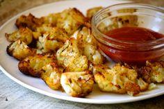 Roasted Cauliflower Poppers