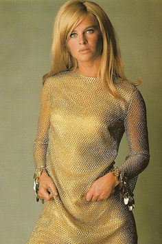Julie Christie by David Bailey 1965.  She looks good in gold.