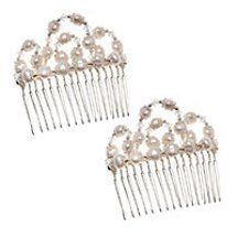 Wouldn't this #tutorial for pearl hair combs make the perfect #wedding jewelry?