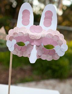 Paper Bunny Masks {Easter Crafts}