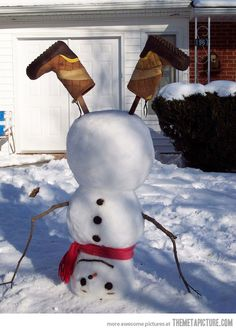 This looks like so much more fun than a normal snow man - if we ever get enough snow for this.