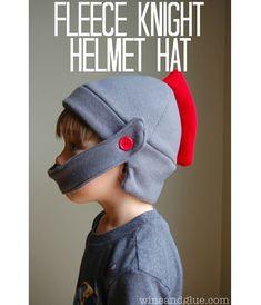 Free pattern: Fleece knight hat sewing tutorials free, hats, knight hat, helmet hat, knights, free patterns sewing, fleece hat pattern, knight helmet, fleec knight