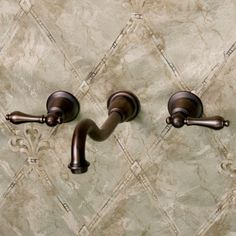 Ballantine Wall Mount Lavatory Faucet with Lever Handles