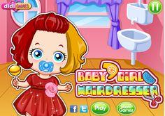 Juego Baby Girl Hairdresser Ayuda a limpiar a esta beba para que luzca muy bonita ► http://www.ispajuegos.com/jugar8493-Baby-Girl-Hairdresser.html