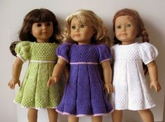 American Girl 18 inch doll Pleated summer DRESS by KNITnPLAY, $2.99 - This pattern is written by me for beginner knitter. It is super detailed and enhanced by color photo illustrations and some VIDEO clip instructions. This Easy Simple step-by-step, row-by-row, stitch – by- stitch pattern is perfect for a novice knitter. If you think ALL you can manage is a scarf – you can knit this dress using the pattern I wrote.