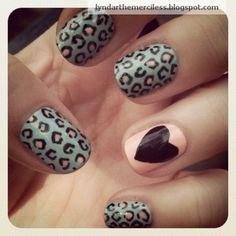 Leopard print + hearts