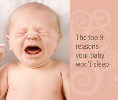9 reasons your baby won't sleep #babysleeptips