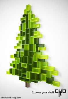 Christmas tree made with Cubit by Mymito @Cindy Jain