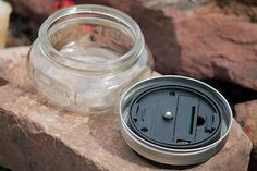 Solar Lanterns using solar light, mason jar and ring