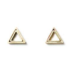 triangl earring, stud