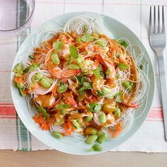 Forget take out! Make Shrimp Noodle Salad with Peanut Sauce for a cool summer evening