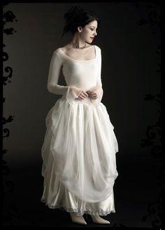 Ivraie Fairy Wedding Gown in Velvet - Custom Elegant Gothic Clothing and Dark Romantic Couture. $249.00, via Etsy.