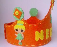 Corona cumpleaños de fieltro  crown felt
