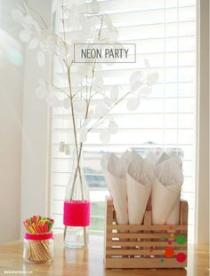 Neon Party Decor made with my Silhouette CAMEO by Amy Robison