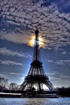Eiffel Tower Evening, Paris, France