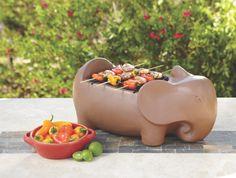 Terracotta Elephant Grill at Cost Plus World Market >> #WorldMarket Outdoor Entertaining & Decor