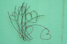 A Southwestern Barbed Wire Wild Spray Of Hearts by SouthwestCrafts, $135.00