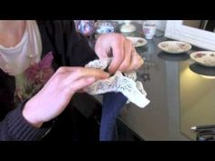 Great simple tutorial to add a sweet lace ruffle to the top of any sock!