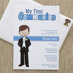 Cherish your child's big day with the I'm The Communion Boy Personalized Communion Invitations. Find the best personalized First Communion gifts at PersonalizationMall.com