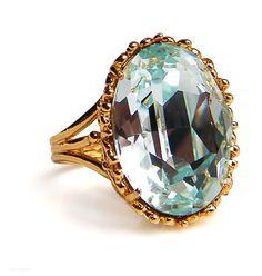 JP: Aquamarine YG Ring.