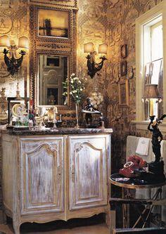 Charles Faudree Powder Room. Traditional Home May 2003