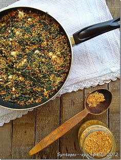 Σπανάκι με τραχανά και τυρί