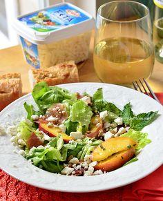 Feta, Peach  Prosciutto Salad  Recipe at TidyMom.net