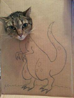 Cat t-rex