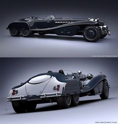 ~inspiration for Dieselpunk concepts~    Daniel Simon @ Marvel Studios : http://danielsimon.com/hydra-schmidt-coupe/