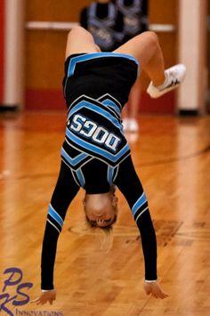cheerleader tumbling.  #Cheerleading