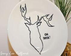 antler, woodland plate