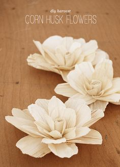 corn husk flower diy white flowers, corn husk diy, corn husk crafts, thanksgiving decorations, husk flowerdiy, diy tutorial, flower crafts, thanksgiving centerpieces, corn husk flowers