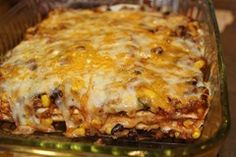 Quesadilla Casserole.  Everyone but the seven year old liked this.  It was easy and good.