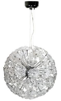 Gorgeous Floral Glass Sphere Chandelier...