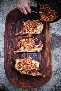 Honey Brined Grilled Chicken with Romesco