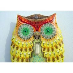 Image Detail for - Hand Painted Yellow Owl Light Switch Cover Plate | ThisNext