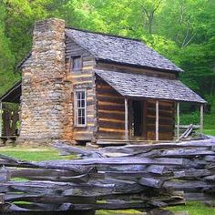 John Oliver Cabin (ca. 1822-23)    Cades Cove Historic District, Tennessee